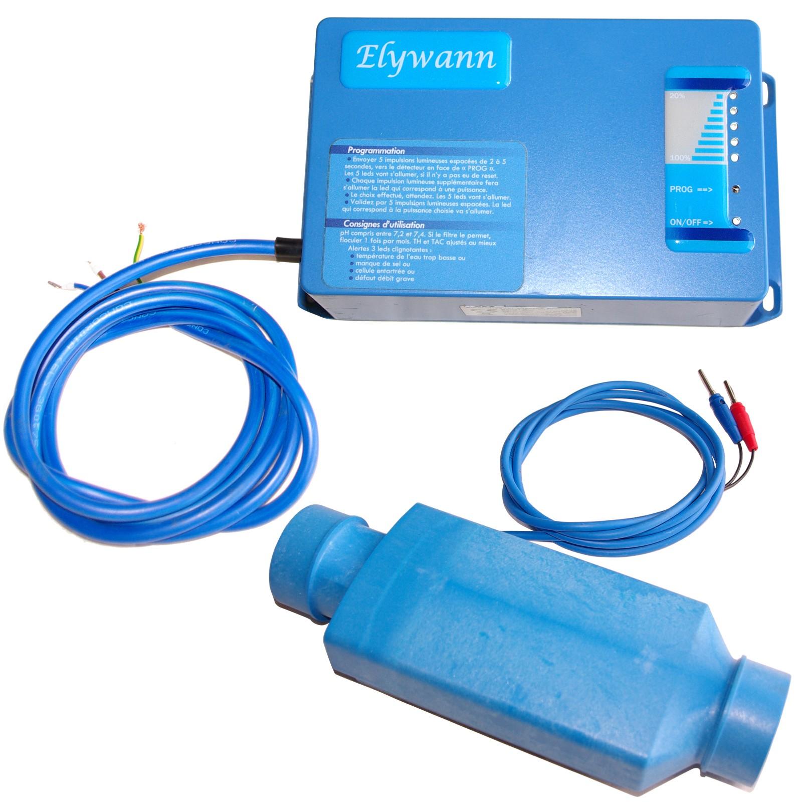 coffret et cellule electrolyseur pour piscine Tiny STD